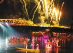 Hue festival on Huong river